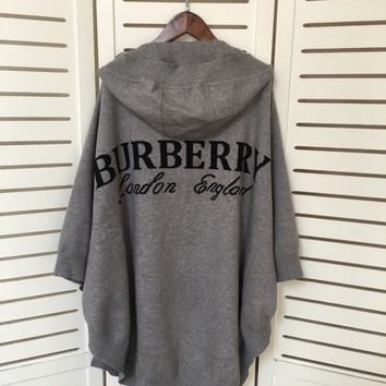 Burberry Women Hooded Wool Cardigan