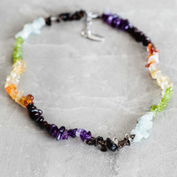 Chakra Chip Choker Necklace