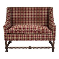 Pre-owned Antique Settee with Barley Twist Legs