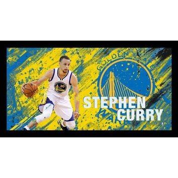 DCCKU7Q Stephen Curry Brushstroke 10X20 Framed Collage