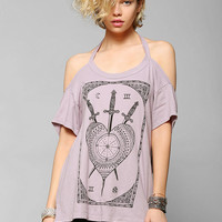 Truly Madly Deeply Swords & Tarot Cold Shoulder Tee - Urban Outfitters