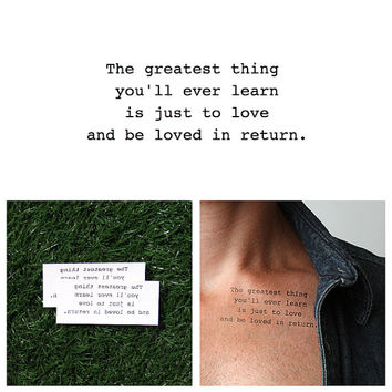 Life Lesson - Temporary Tattoo (Set of 2)