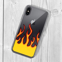 Flame Clear iPhone Case
