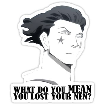 'You lost your nen? Hisoka (HxH) By Tokyo_Fool' Sticker by Tokyo-Fool