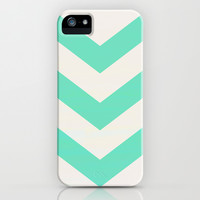 Mint Chevron iPhone & iPod Case by Georgiana Paraschiv
