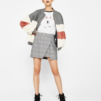 Double-layered front skirt - Skirts - Bershka United States