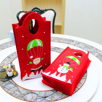Christmas Embroidery Gift Bags Wine Bottle Bags [9199621572]