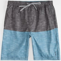 Valor New Troupe Mens Hybrid Shorts - Boardshorts And Walkshorts In One Blue  In Sizes