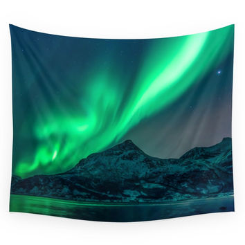 Society6 Aurora Borealis (Northern Lights) Wall Tapestry
