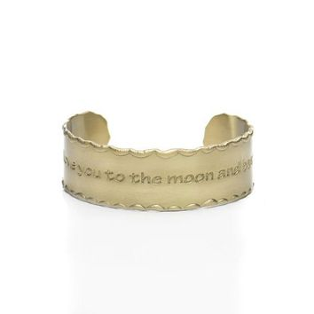 Rustic Cuff - Scalloped Edge Quote Cuff