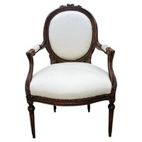French Louis XV-Style Armchair
