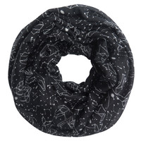 Constellation Infinity Scarf in Black or Mint