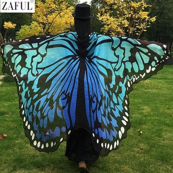 ESBONHS ZAFUL 2017 Pareo Beach Cover Up Butterfly Wing Cape Bikini Cover Up Swimwear Women Robe De Plage Beach Bathing Suit Cover Up
