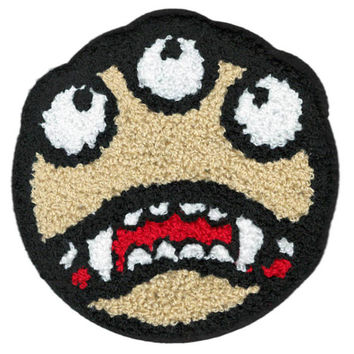 ON SALE 15% OFF Xl 13cm Extra Large Cool Chenille 3 Eye Smiley Face Smile Patch Badge Applique