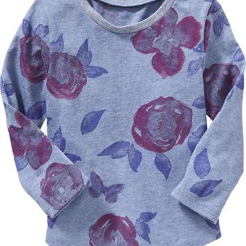 Old Navy Rounded Hem Long Sleeve Tee For Baby
