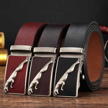 Fashion men's belts designer leather straps for male automatic buckle authentic girdle Waistband trend