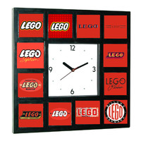 Lego logo history Clock with 12 pictures