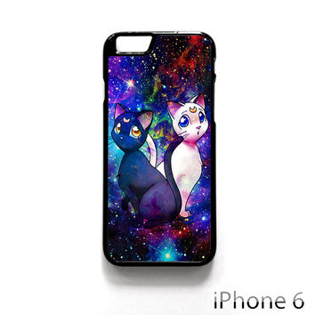 Sailor Moon Luna And Artemis Cat for Iphone 4/4S Iphone 5/5S/5C Iphone 6/6S/6S Plus/6 Plus Phone case