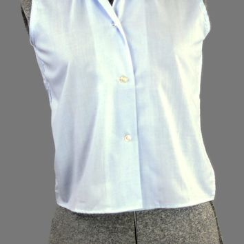 Miss Preston Periwinkle Vintage 1960 Sleeveless Blouse Just In