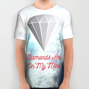 Diamonds Are On My Mind ! All Over Print Shirt by Muradx7