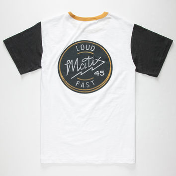 Matix Loud Mouth Mens T-Shirt White  In Sizes