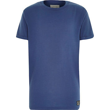 River Island Boys blue short sleeve t-shirt
