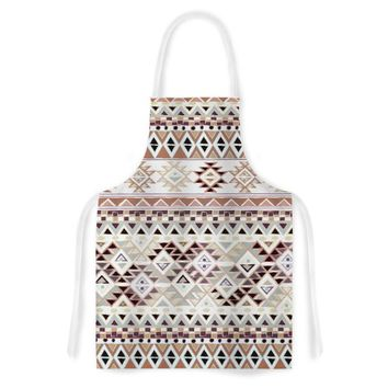 "KESS InHouse Nika Martinez ""Tribal Native in Pastel Brown"" Brown Artistic Apron, 31 by 35.75"", Multicolor"