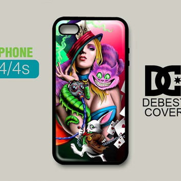 Alice In Wonderland Madhatter Chershire for iPhone Cases | iPhone 4/4s, iPhone 5/5s/5c, iPhone 6/6plus/6s/6s plus