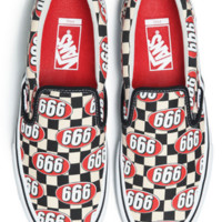 x1love :Supreme x Vans 666 Slip-On  Canvas Skate Shoes