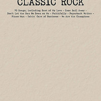 Classic Rock Budget Book - Piano/Vocal/Guitar Songbook