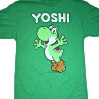 Vintage Nintendo Green Yoshi Gamer Shirt Mens Size Medium