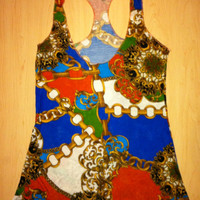 DonDeMarco Belted Chain Tank Top