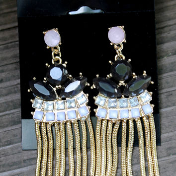 Jewel Fringe Earrings