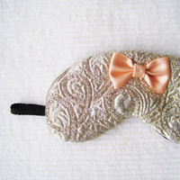 Dazzling Jacquard Fancy Silk Eye Mask/style HIME by Naomilingerie