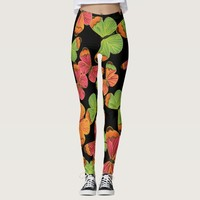 Butterfly Pattern Colorful Leggings