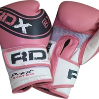 RDX Leather Ladies Pink Pro Gel Boxing Gloves