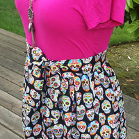 Day of the Dead Sugar Skulls Skirt