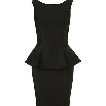 Sleeveless Peplum Mini Dress