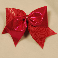 Hot Pink Zebra print : GLITZ Cheer BowZ, Custom Products From Your Head To Your Toes