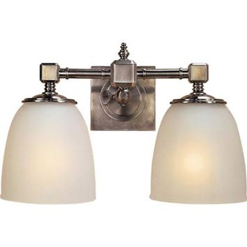 Visual Comfort and Company CHD1532AN-FG Antique Nickel Essex Double Formal Fixture