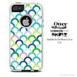 The Fun Colored Hoops Skin For The iPhone 4-4s or 5-5s Otterbox Commuter Case
