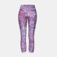 Purple zentangles Yoga Pants, Live Heroes