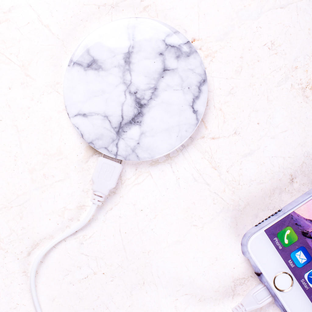 Marble Round Portable Charger Power Bank from Ankit  0acd8b764cc2