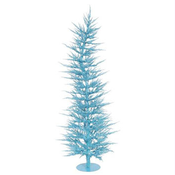 Laser Tree - 445 Branch Tipspre-lit With 50 Blue Mini Lights