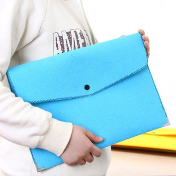 A4 Chemical Felt File Folder Durable Briefcase Document Bag Paper File Folders Carpetas Stationery store School Supplies