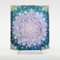 Peacock Mandala Shower Curtain by Jenndalyn | Society6