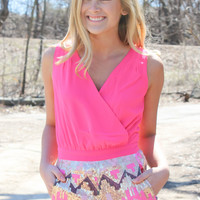 Hot Pink Sequin Romper