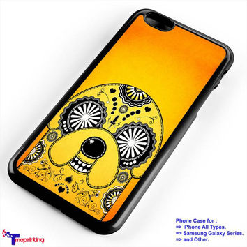 jake adventure time sugar skull - Personalized iPhone 7 Case, iPhone 6/6S Plus, 5 5S SE, 7S Plus, Samsung Galaxy S5 S6 S7 S8 Case, and Other