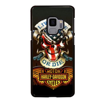 SKULL AND WINGS HARLEY DAVIDSON Samsung Galaxy S3 S4 S5 S6 S7 S8 S9 Edge  Plus 23cd690efc