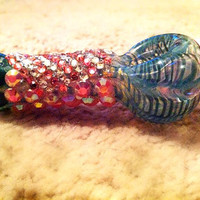 Blue striped princess pipe high quality 2 by Highbaby on Etsy